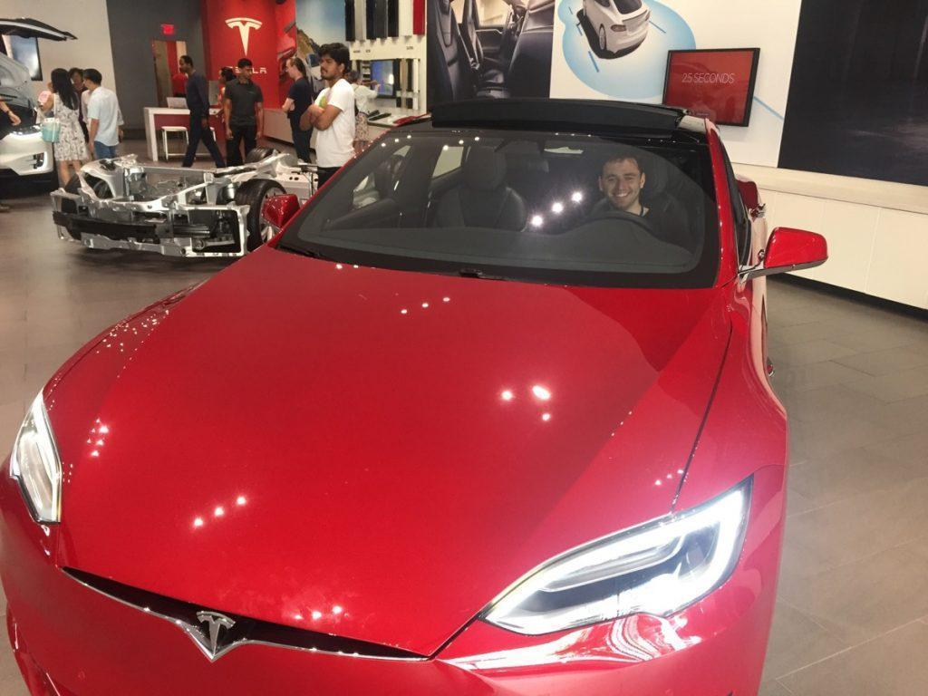 Trying out the new Tesla model