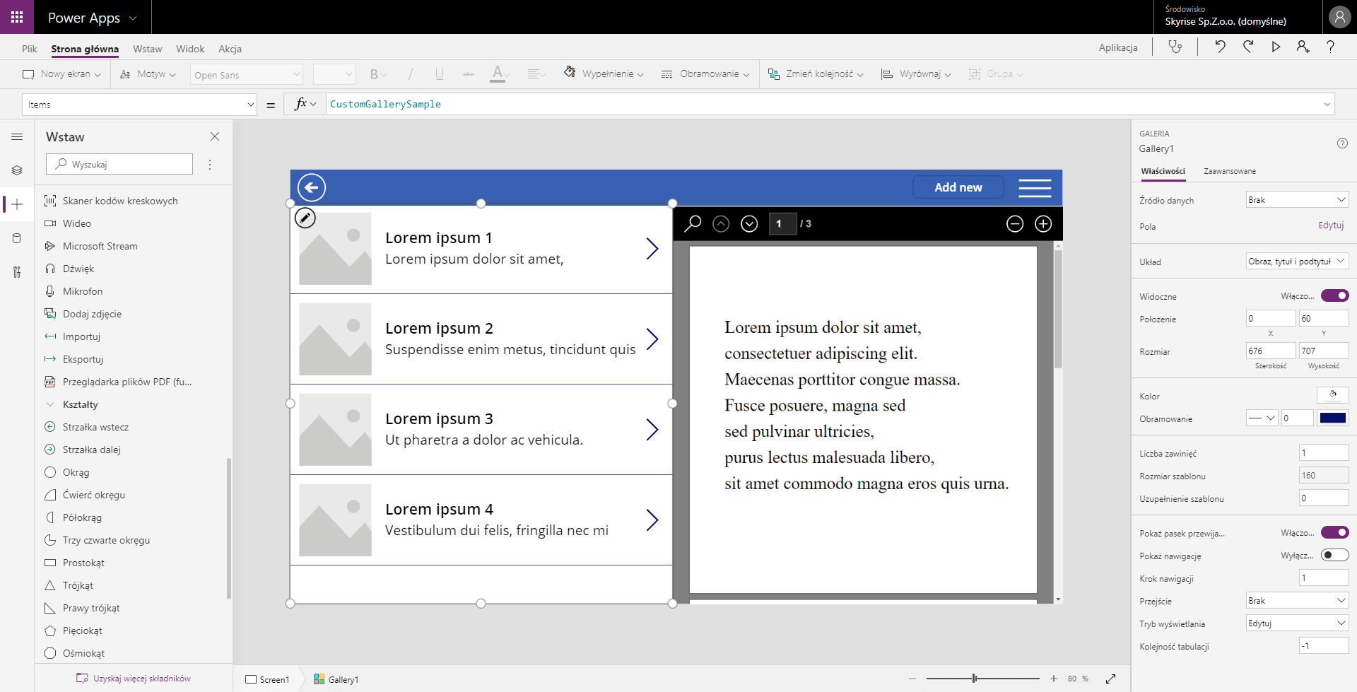 Microsoft-PowerApps-graphical-user-interface